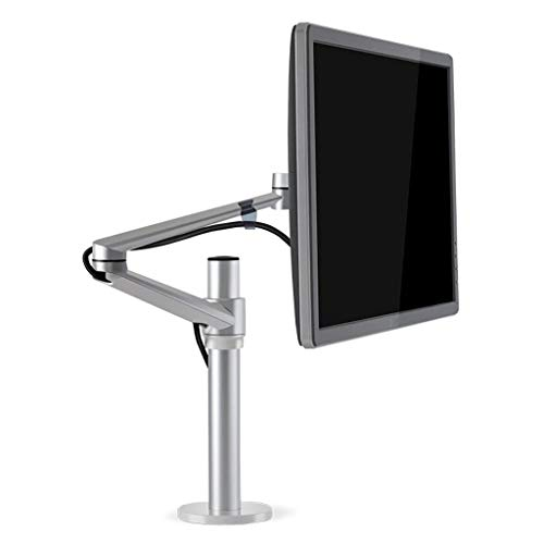 YAALO Computer Monitor Kostenlos-Stehen Schreibtisch Stand Steigleitung Für 13 Zoll Zu 17 Zoll Bildschirm Mit Schwenken, Höhe Verstellbarer Drehung-银色 -