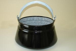 Ungarischer Suppenkessel Gulaschkessel Topf konisch Fischkessel Fischsuppenkessel Emaille 10 Liter