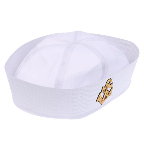 Kinder Navy Sailor Mütze Matrosenuniform Matrose Kostüm für Fasching Karneval Halloween - Farbe 4, wie beschreiben (Halloween Matrose Hut)