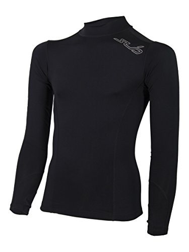 Sub Sports Fitted Cold Youth Thermal Mock Neck Fitted Baselayer Top Winter SY Black