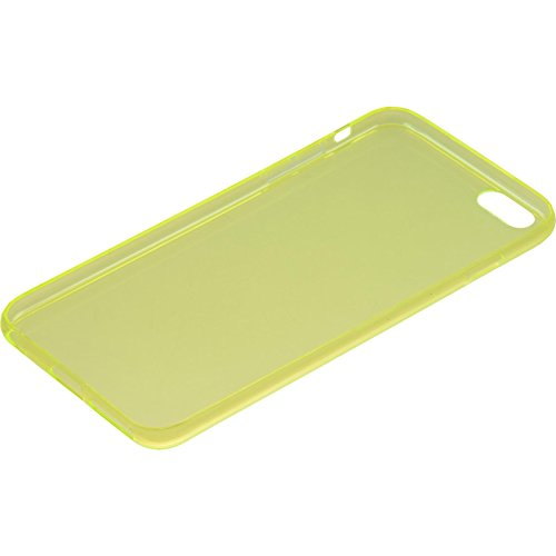 Coque en Silicone pour Apple iPhone 6 Plus / 6s Plus - Slimcase transparent - Cover PhoneNatic Cubierta + films de protection jaune