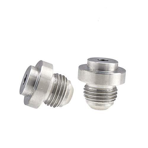 ENET 2 x AN6 Basis männlich rund aus Aluminium zum Schweißen an Schlauchanschluss flexibel Adapter Kraftstoffadapter