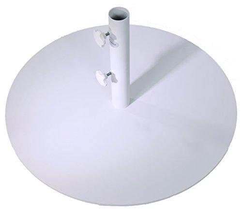 SORARA Sonnenschirmstander Stahl | Weiss | Ø 70 cm Mastdurchmesser Ø 48 mm | 25 kg | Rund | Sonnenschirmstander Stahl