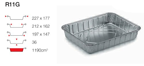 contital Barquette en aluminium 4 portions 100 PZ r11G
