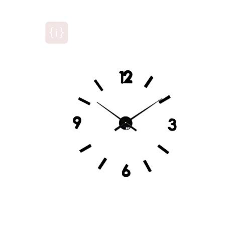 ISEE 360® Wall Sticker Clock for Office School Home Restaurant Or Any Suitable Place Black Vinyl Decals L X H 40.00 x 40.00 cm