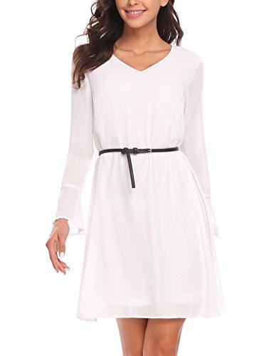 Basic kleid weiss langarm