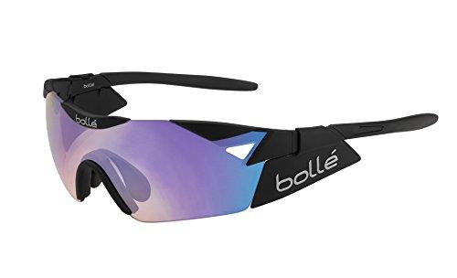 Bollé 6th Sense S - Gafas de sol deportivas, color negro mate / negro