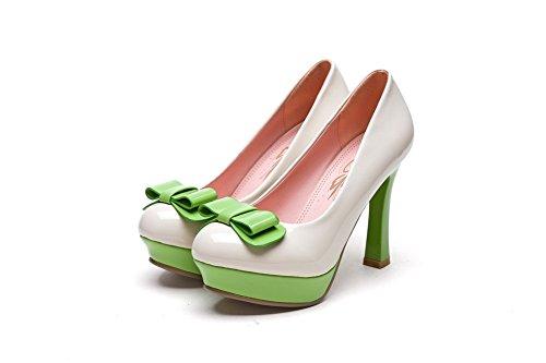 Inconnu 1TO9 pour femme à enfiler Couleurs assorties fiançailles en caoutchouc Pumps-shoes Beige