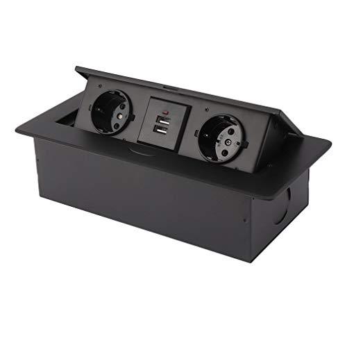 kitech ildhrrd Caja de enchufe (empotrable con USB BACKFLIP enchufe enchufe mesa...