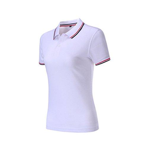 ZKOO Polo Donna Manica Corta Polo Magliette Slim Polo Shirts In Cotone Sport Tennis T shirt Tops Polo da Donne