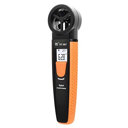 Anemómetro digital, 3 en 1, medidor de velocidad del viento para...
