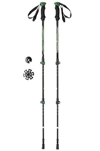 Ferrino, Ultar, Bastoncini da trekking, Unisex, Verde, 61-135