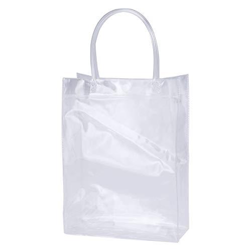 Kunststoff PVC EIS Wein Tasche Tragbare Tasche Geschenk Tasche Geburtstagsfeier Dekoration Hochzeit Gunsten Vertikale Stil ()