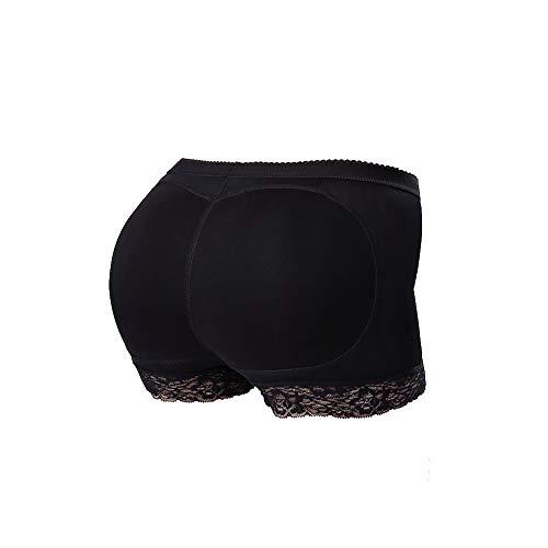 Control-slip (FTVOGUE Butt Lifter Hip Enhancer Shaper Pad Panties Control Pants Slip Spitze Dessous Shapewear Unterwäsche Frauen - Schwarz - Mittel)