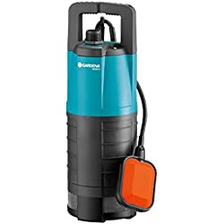 GARDENA Pompe immergée pour arrosage 5500/3 Classic : pompe immergée, débit de 5500 l/h, fonctionne silencieusement et sans entretien, protection contre la marche à sec via un flotteur (1461-20)