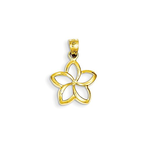 en-Out Anhänger poliertes Frangipani - 22 x 15 mm Durchmesser - JewelryWeb ()