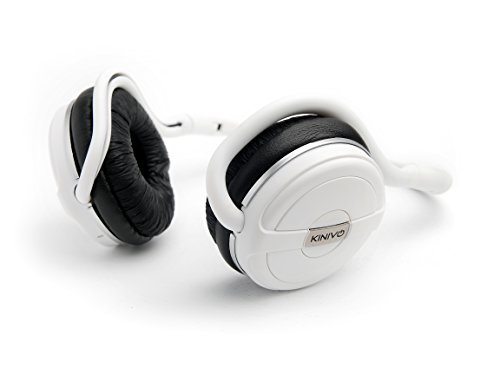 Kinivo BTH240 Limited Edition Bluetooth Stereo Headphone - Supports Wireless Music Streaming and Hands-Free Calling (Arctic White)