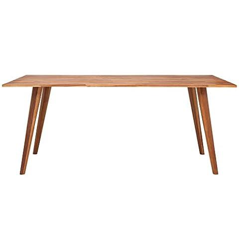 Table Bois Massif - vidaXL Table de salle à manger en