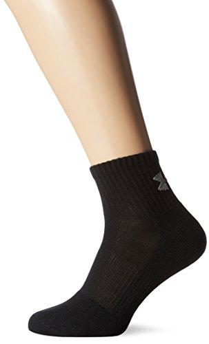 Under Armour Herren UA Charged Cotton 2 Quarter Socken, Black, L, 6er Pack (Under Armour Herren Socken)