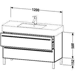 Duravit x-large Waschtisch Unterbau 1200x 4702Schubladen Cappuccino -