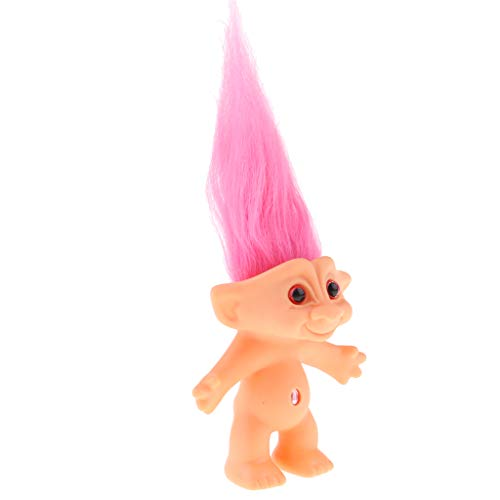 7e5fdc28a09 KESOTO Delicadas Muñecas Troll Afortunado Desnudo Mini Figuras de Acción  Juguete Colecciones - Rosa roja