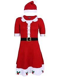 PRIMARK Oeko-Tex Vestido Rojo, Traje de Papá Noel