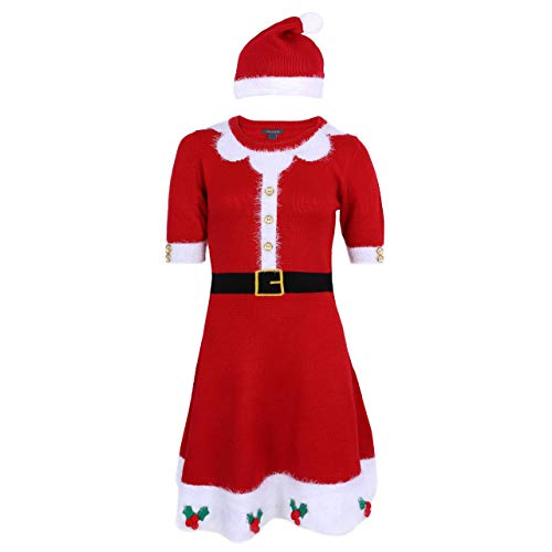 PRIMARK Oeko-Tex Rotes Kleid/Santa -Claus-Outfit - XL