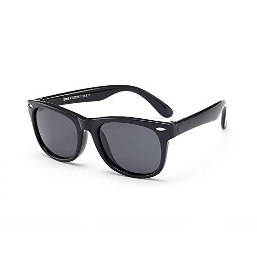 Klassische silikon mode strahlung polarisierte sonnenbrille baby brille kinder sonnenbrille schwarz größe