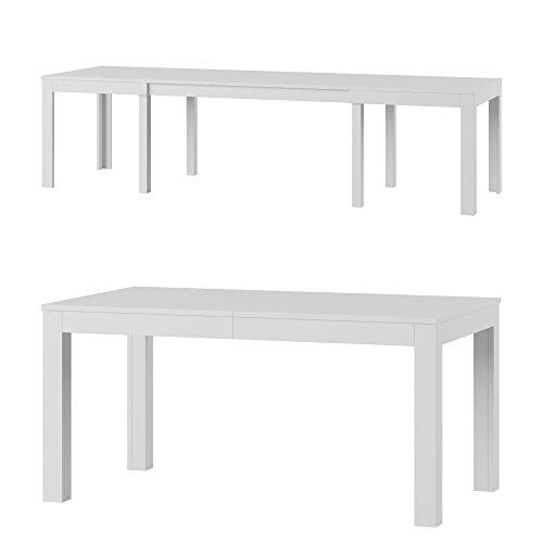 WENUS furniture24_eu Tisch Küchentisch Esszimmertisch Esstisch ausziehbar bis 300 cm !!! (weiß matt)