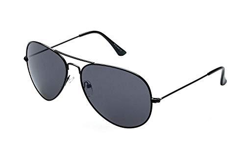 Alpland Pilotenbrille Cop - Modell - MAGNUM BLACK -XXL Gläser - inkl.Softbag!