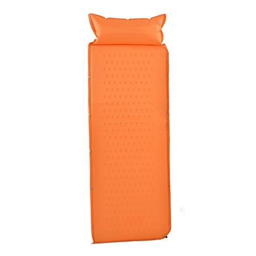 TYJ Picknick-Decken Aufblasbare Matte Moisture Pad Outdoor Teppich Picknick Matten Individuelle Splice Beach Matten ( Farbe : Orange , größe : 190*63cm )