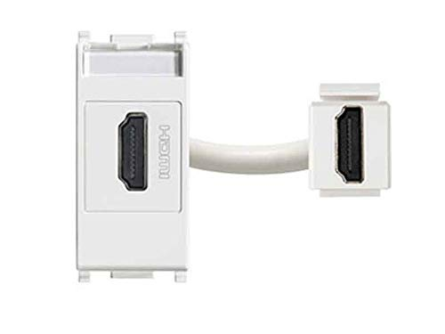 VIMAR SERIE, presa a muro HDMI, colore bianco