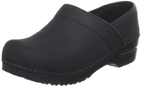 Sanita Damen Prof. Textured oil Clogs, Schwarz (Black 2), 38 EU Sanita Professional Clogs