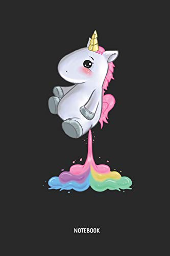 Unicorn Notebook: Cute Unicorn Farting Rainbow - Lined Journal for Women, Men and Kids. Great Gift Idea for all Unicorns Lover.