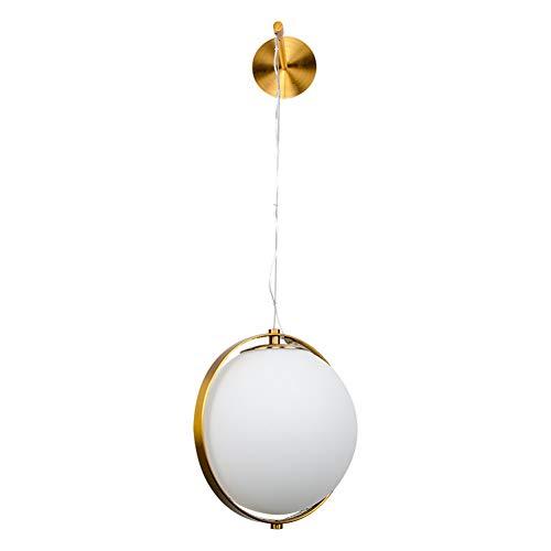 PElight Kreative Metall Ball Glas Wandlampe Moderne Minimalistische Kreative Led Wandleuchte,Wohnzimmer, Diele, Esszimmer, Bett(Kupfer)