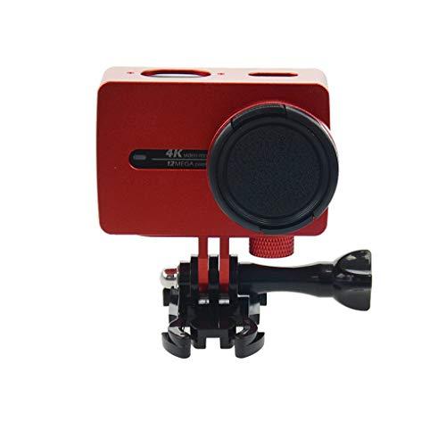 Mengonee Tätigkeits-Kamera-Schutzhülle Gehäuserahmen Montage Ersatz für Xiaomi YI 2 Kamera Shell Metall Zubehör -
