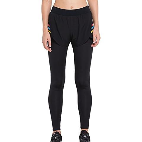 Cody Lundin donna puro black legging falso in due pezzi autunno-inverno moda fitness pantaloni pantaloni di elasticità