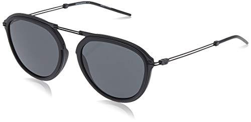 Emporio armani 0ea2056 300187 54 occhiali da sole, nero (matte black), 53 uomo
