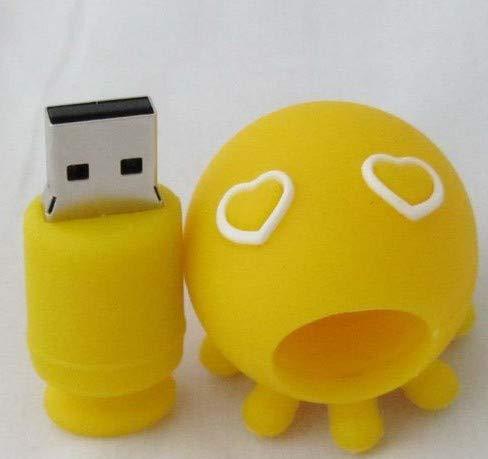 USB-Stick Flash Drive Speicherstick USB2.0 Kreativ Kieselgel Karikatur Aquarium USB-Stick 4 Bis 64 GB Schön Geschenk (32GB,Gelbe Minikrake)