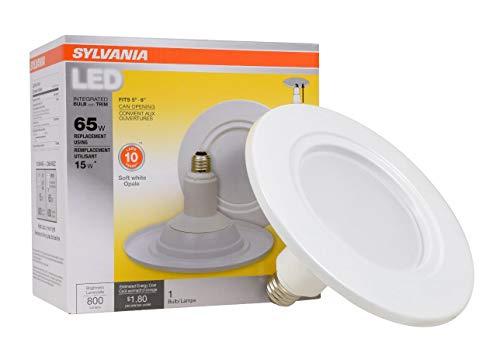 65w Glühbirne (Sylvania Home Beleuchtung 79695LT Sylvania LED BR30, entspricht 65W, Contractor Serie intgrated Glühbirne und Trim, effiziente 15W, dimmbar, weichen, weißen 27000K)