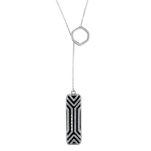 Bescita Halsketten-Edelstahl-hängender Schlaf-Eignung-Monitor für Fitbit Flex 2 (Silber) -