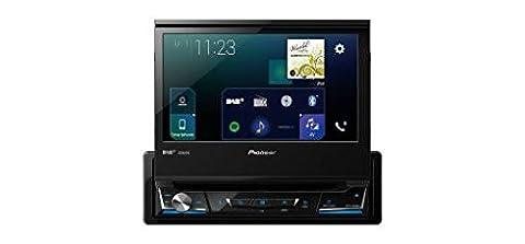 Pioneer AVH-Z7000DAB   1DIN Autoradio – ausfahrbarer 7 Zoll Clear-Type-Touchscreen   Bluetooth   DAB+   Apple CarPlay   Android Auto   Waze   AppRadio   Freisprecheinrichtung   Media-Receiver für Audio Video CD DVD