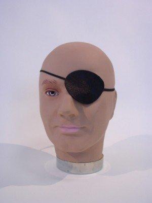 Piraten-Kostüm Augen-Klappe Seeräuber-Kostüm Eyepatch Verkleidung Zubehör Faschings-Kostüm Karneval Verkleidung (Ag Gold Halloween)