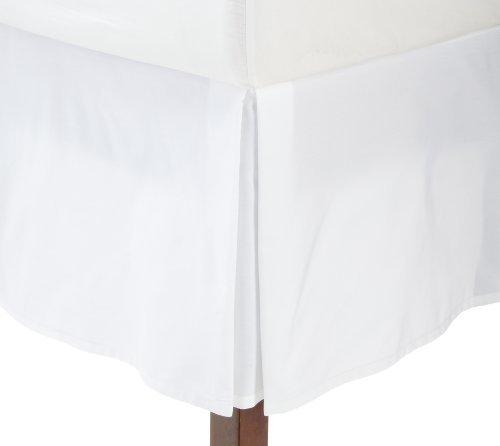 Fresh Ideas Tailored Poplin Bedskirt 14-Inch Drop Queen, White by Fresh Ideas -