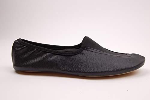 Voltigierschuhe Leder schwarz (schwarz, 30)
