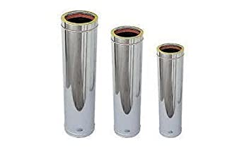 Canna fumaria coibentata 80 mm boiserie in ceramica per - Canne fumarie coibentate per stufe a pellet ...