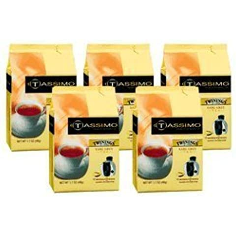 Tassimo 01318 Twinings Earl Grey Tea Pods 5-Pack, 80 Pods by TASIMO