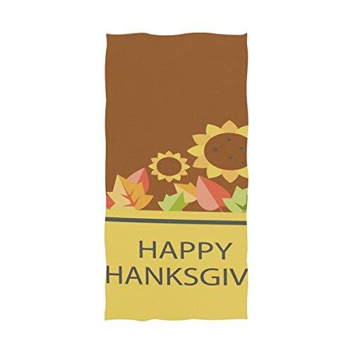 FANTAZIO Fantasio Premium Baumwoll-Badetuch Thanksgiving Dankbarkeit Extra saugfähiges Handtuch