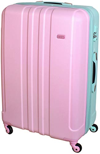 XXL Hartschalen Koffer Gurtmaß Robust Trolley 4 Rollen Reise TSA Schloss Mint Rosa