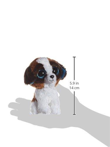 TY-36125–Duke-perro-con-ojos-Glubschi-s-Beanie-Boo-s-15-cm-color-blancomarrn